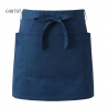navy apronsolid color unisex design short apron for waiter chef