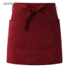 wine apronsolid color unisex design short apron for waiter chef