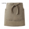 khaki apronsolid color unisex design short apron for waiter chef