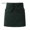 blackish green apronsolid color unisex design short apron for waiter chef