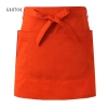 orange apronsolid color unisex design short apron for waiter chef