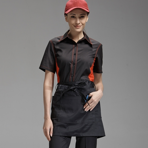 simple unisex design short mini apron waiter chef design