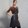dark grey halter apronfashion cotton household mom cooking apron