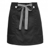 short black apronbutton belt short apron