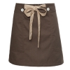 short coffee apronbutton belt short apron