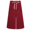 split wine apronbutton belt short apron