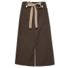 split coffee apronbutton belt short apron
