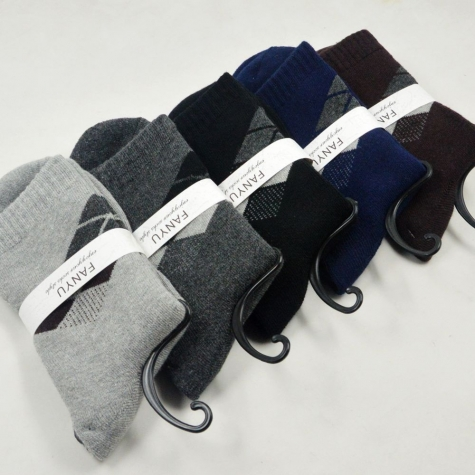 winter pile thicken knitted cotton socks formal design