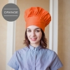 unisex orange chef hat