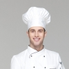 unisex white chef hat
