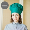 unisex green chef hat