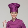 unisex purple chef hat