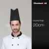 20 cm round topblack round top paper disposable kitch chef hat (20 pcs)