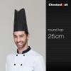 25 cm round topblack round top paper disposable kitch chef hat