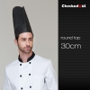 30 cm round topblack round top paper disposable kitch chef hat