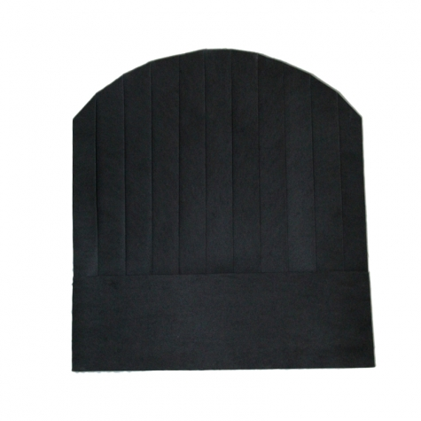 black round top paper disposable kitch chef hat