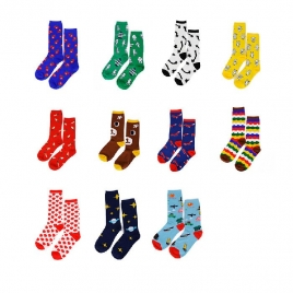 Cartoon lengthen lovely women men socks