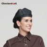 black denim beret  hatfashion denim table waitress hat beret hat