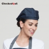 blue denim beret hat