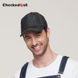 fashion denim table wait staff waiter hat beret hat