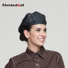fashion denim table waitress hat beret hat