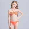 small floral little girl swimwear bikini  teen girl swimwear