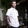 hot sale classic reefer collar chef coat  short sleeve chef jacket