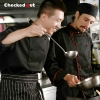 hot sale classic reefer collar unisex chef coat for men or women chef