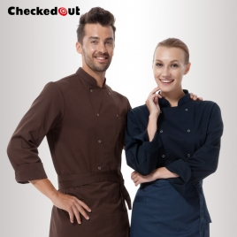 short / long sleeve solid color chef uniform work wear both for women or men