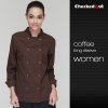 long sleeve coffee womenshort / long sleeve solid color chef uniform work wear both for women or men