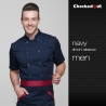 short sleeve navy menshort / long sleeve solid color chef uniform work wear both for women or men