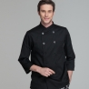 men chef coat blck