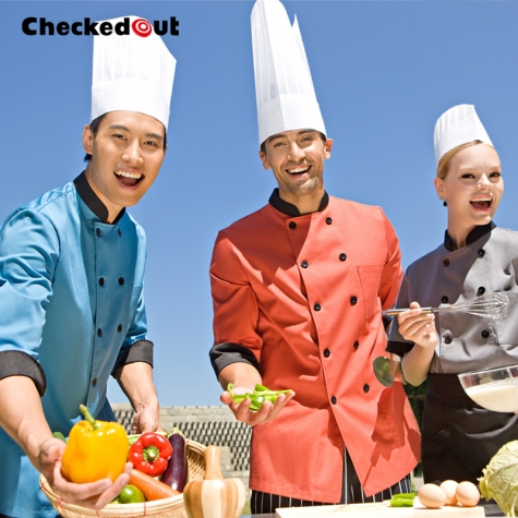 unisex contrast color chef workswear coat uniform Dessert shop