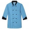 light blue chef coatunisex contrast color chef workswear coat uniform Dessert shop