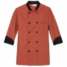 orange chef coatunisex contrast color chef workswear coat uniform Dessert shop