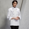 unisex white(sapphire hem) coatAmerica popular good quality chef master coat jacket