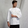 unisex white(golden hem) coatAmerica popular good quality chef master coat jacket