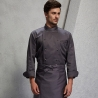 unisex grey(black hem) coatAmerica popular good quality chef master coat jacket
