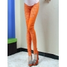 Orangeelastic fashion lace floral young girl leggings pant