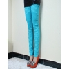 Blueelastic fashion lace floral young girl leggings pant