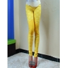 Yellowelastic fashion lace floral young girl leggings pant