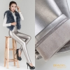 silverwinter warm breathable fleece leather women pant legging