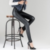 color 4winter warm breathable fleece leather women pant legging