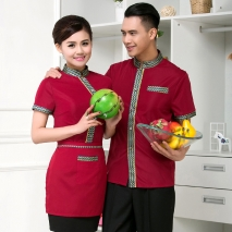 Thailand style teahouse waiter waitress uniform shirt