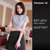 short sleeve light grey women shirtcontrast collar autumn design shirt for men or women waiter