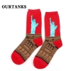 color 8fashion famous painting art printing socks cotton socks men socks women socks