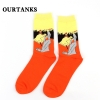 color 11fashion famous painting art printing socks cotton socks men socks women socks