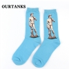 color 13fashion famous painting art printing socks cotton socks men socks women socks