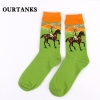 color 14fashion famous painting art printing socks cotton socks men socks women socks