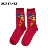 color 16fashion famous painting art printing socks cotton socks men socks women socks